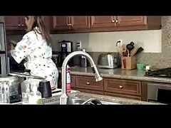 Mature Fucking Around Kitchen