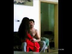 Indian Punjabi Police Man Enjoying With His Wife