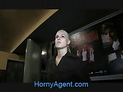 HornyAgent Full Sex on a Train with a Hot Blonde