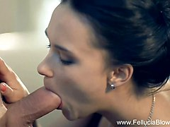 Brunette MILF Blows The Erotic