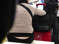 Nice White Thong - Waiting at the airport - Part I