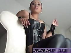 smoking leather femdom humiliation ( slave pov )
