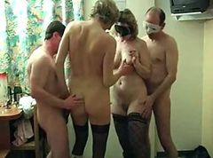 Threesome mature french