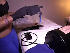 male made to ride the sybian at clinic