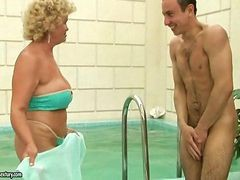 Naughty Granny Fucking With Young Boy