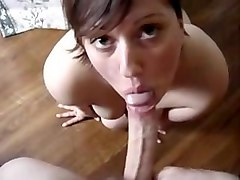 short haired bruntte fucked doggystyle in pov