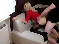 nastyplace.org - amateur blonde fucking in black stockings & boots