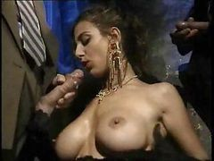 Busty Italian Babe Is Used By All These Hard Gangster Cocks