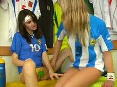 Soccer Lesbians Play In Changing Room