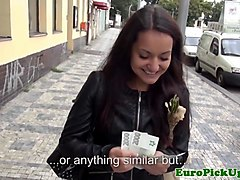 public pulled euro persuaded to fuck for cash