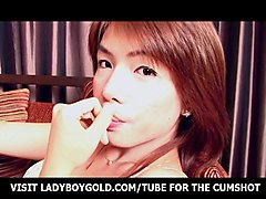 Ladyboy Teen Year Zaza Wanking Hard