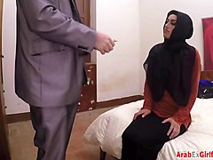 arab ex-girlfriend with perky titties rides dick in cowgirl position