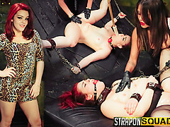 More Lesbian Slave Training for Kimber Woods with Brooklyn Daniels & Mena Li - StrapOnSquad