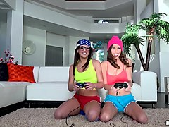 Leah Gotti & Madi Meadows in Tribbing Gamer Girls - PervsOnPatrol
