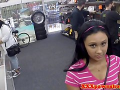 pawnshop teen fucked in store for extra money