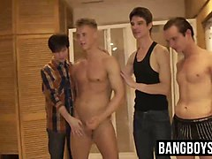 horny guys have a massive gangbang party having nasty fun