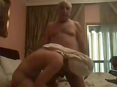 Lebanese old man fucking his maid very hard