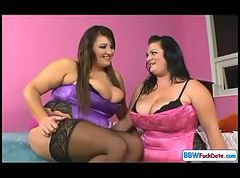 Chubby British Lesbians Licking Fat Pussy