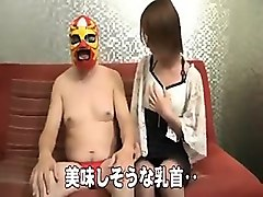 masked guy invites a gorgeous asian girl to satisfy his sex