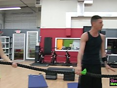 teens get fucked in gym