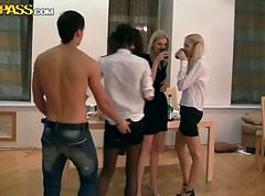 Young and horny russian studs fuck and suck after exam.