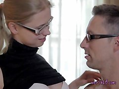 hot nerd veronika invites over nerdy boyfriend