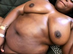 insatiable black plumper has a white stud hammering her aching peach