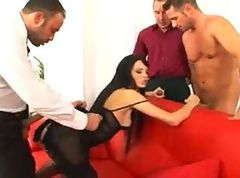 Aliz gangbang and swallow cum