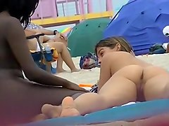 EXHIBITIONIST WIFE #98- HEATHER TAKES HER HUBBY & HER GIRLFRIEND TO THE NUDE BEACH! VOYEUR POV