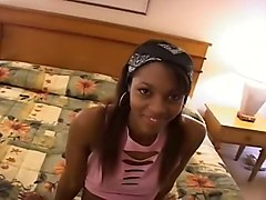 Small Titted Ebony Princess Gets A Creampie
