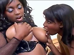 Two Sexy Black Babes Team Up On Old White Man