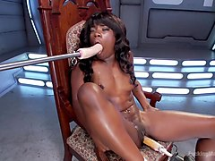 Ebony Barbie Squirts On Massive Cocks And Begs For More!!