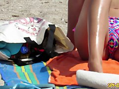hot big boobs topless amateur teens bikini beach voyeur