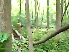 indian natural babe sucking my dick deepthroat in the woods
