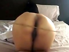 Hot wife ass gets caned and fucked