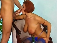 Redhead Fucked With Wine Bottle At Meal
