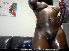 ebony milf from milfsexdating net with beautiful skin