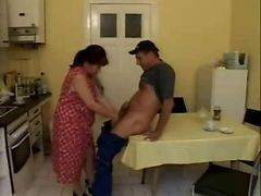 Mature Housewife Fucks On Kitchen Table