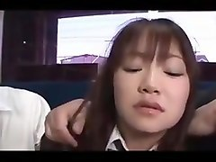 Japanese - Puffy Cutie Gangbanged on the Bus