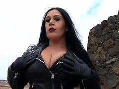 Leather Biker Girl Blowjob