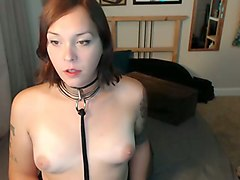 red haired webcam nerdy tattooed ladyboy was teasing her hungry cock