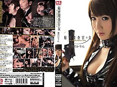 Horny Japanese chick Karin Aizawa in Best gangbang, latex JAV movie