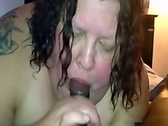 extremely fat tattooed brunette nympho got busy with sucking fat bbc