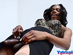 black shemale brooke morgan masturbates her huge cock