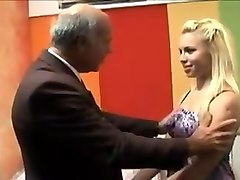 Old man fuck blonde college girl