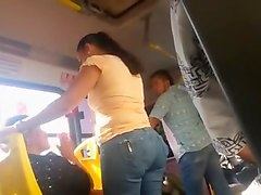 The concrete ass on the bus