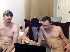 Exotic Homemade movie with Webcam, Threesome scenes