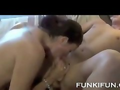 hot horny stepmom fucked hard by her son while daddy films