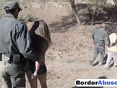 blonde slut fucked hard by a border agent in uniform