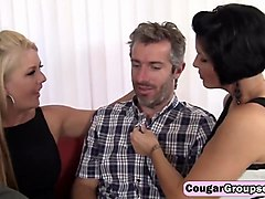 group sex with hot milf with big tits and big cocked stud